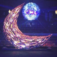 光と音に包まれるアート空間「Mirrorbowler ~ Tiidamoon 太陽と月 ~」